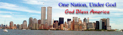 World Trade Towers, God Bless America